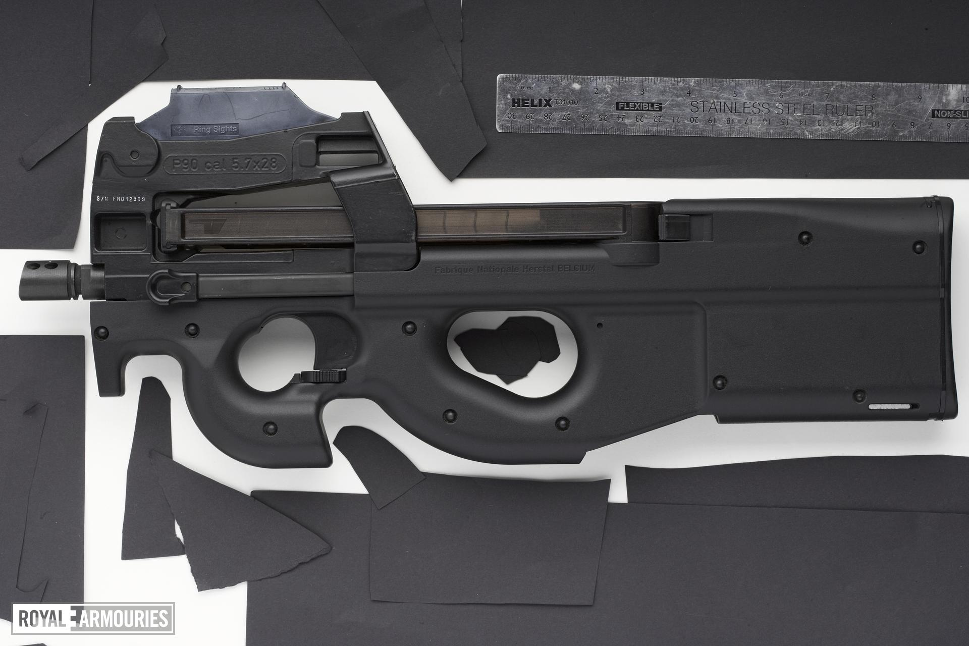 Centrefire automatic submachine gun - FN P90 Personal Defence Weapon (PDW)