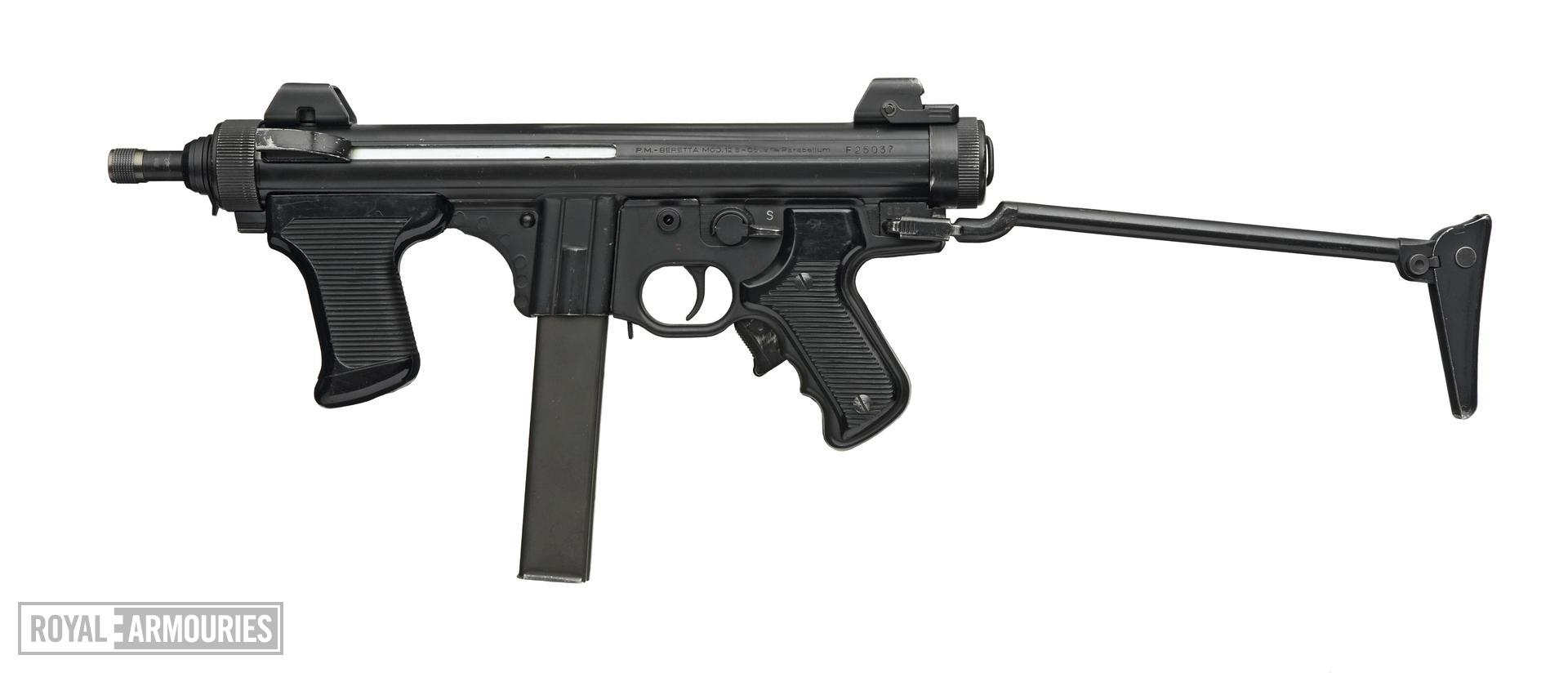 Centrefire automatic submachine gun - Beretta Model 12S with silencer
