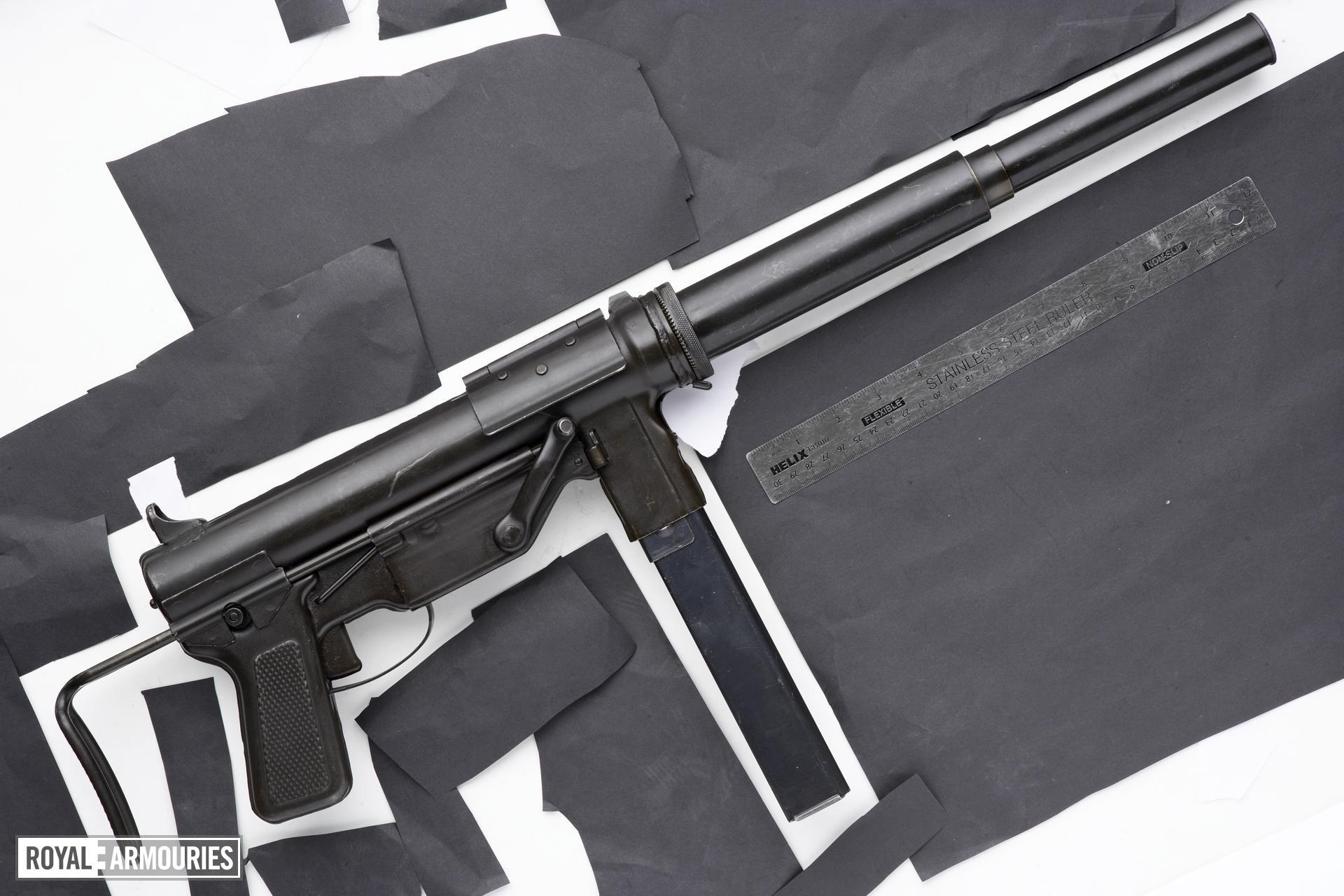 Centrefire automatic silenced submachine gun - M3 (Suppressed)