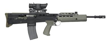 Thumbnail image of Centrefire automatic rifle - SA80 L85A1 Individual Weapon (IW) Standard issue rifle variant.