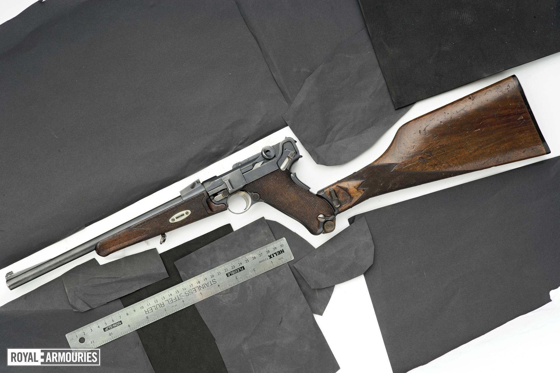 Centrefire self-loading pistol carbine - Luger Model 1902