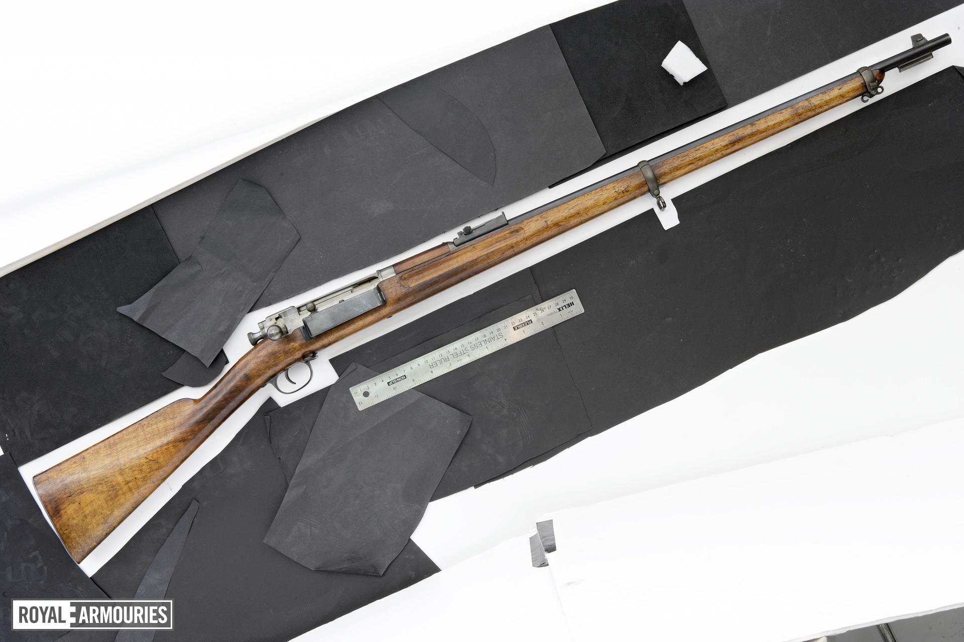 Centrefire bolt-action rifle - Experimental Krag-Jorgensen