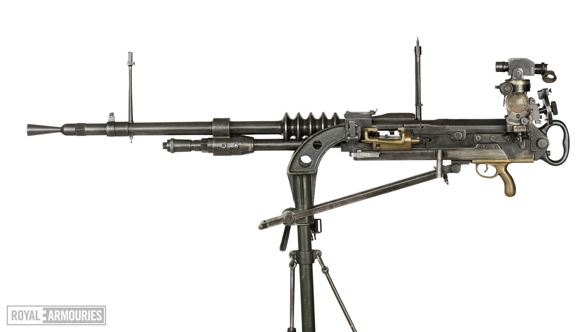 Hotchkiss gas operated machine gun, manufactured by FN, Liege, Belgium