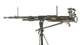 Thumbnail image of Hotchkiss gas operated machine gun, manufactured by FN, Liege, Belgium