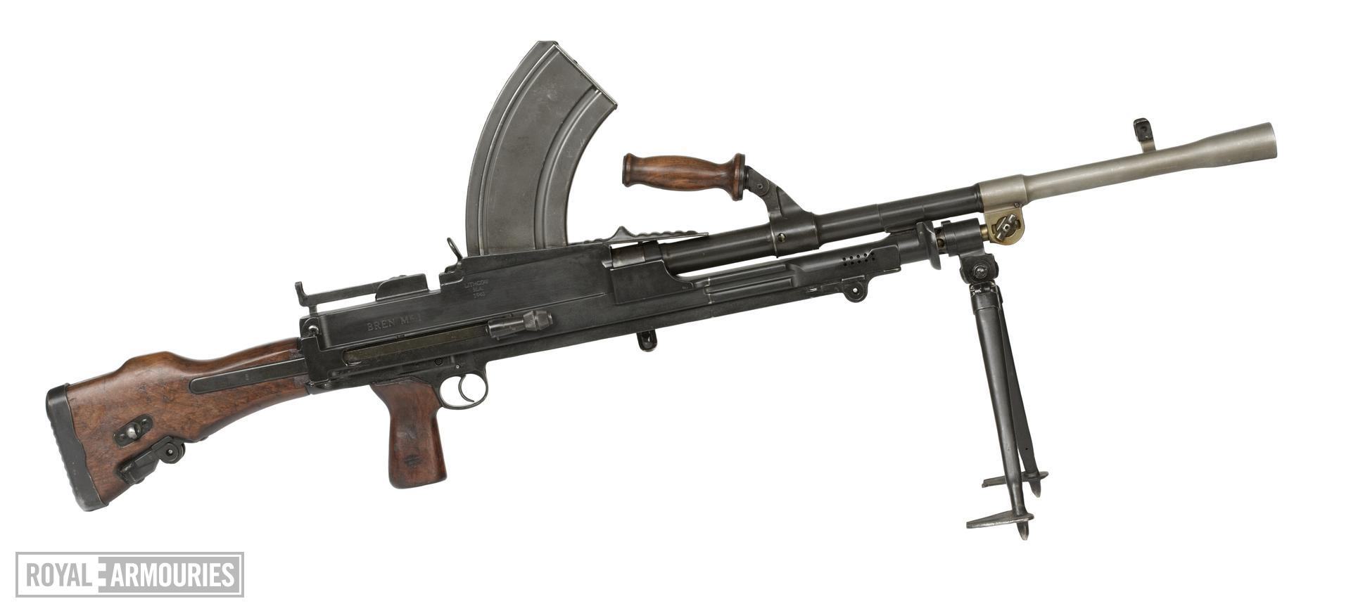 Centrefire automatic light machine gun - Bren Mk.I