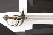 Thumbnail image of Sword - Basket-hilted sword of so-called 'Mortuary'  type.