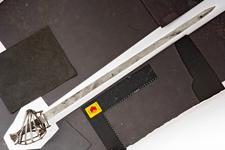 Thumbnail image of Sword Schiavona type sword, 523 on pommel.