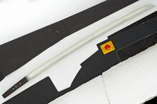 Thumbnail image of Sword (katana) by Sadayuki, with army mounts and shirasaya.