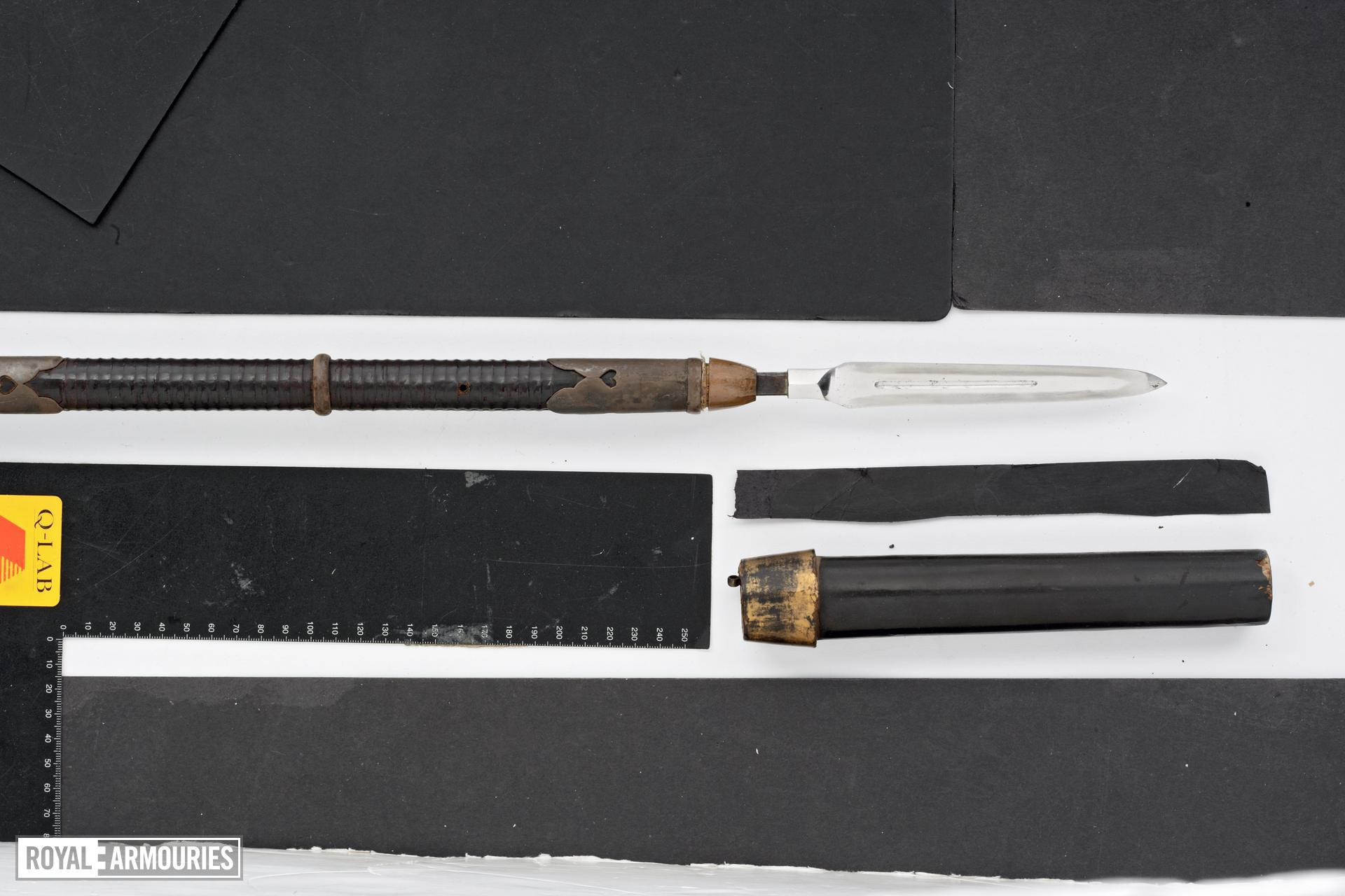 Long spear with a spear tube