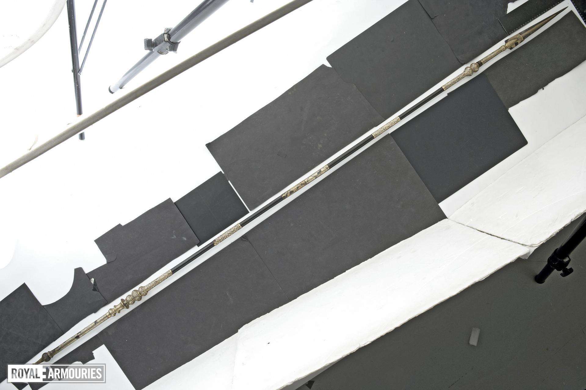Spear with silver mounts