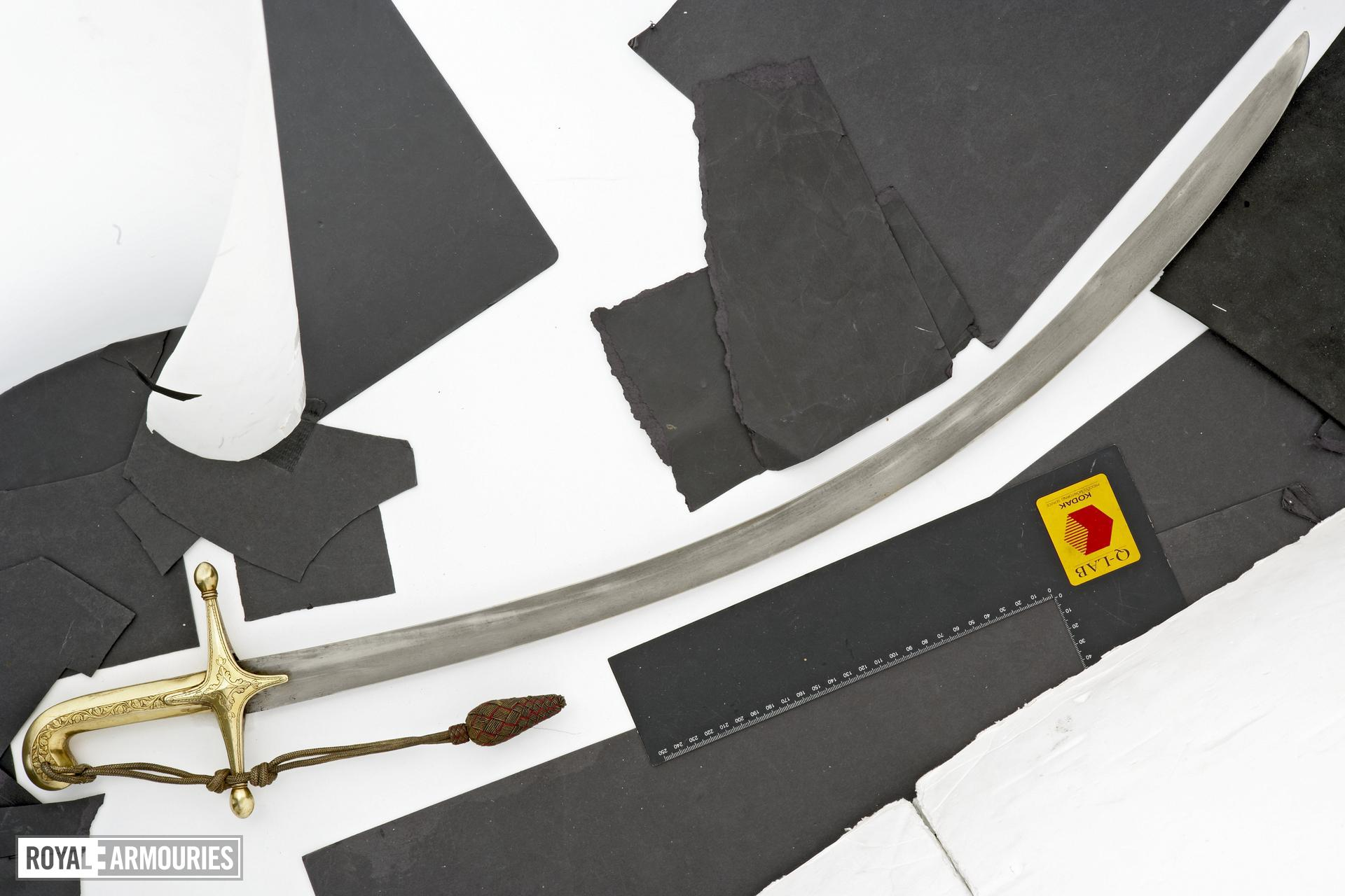 Sword (kilic) kilic Persian blade European mounts 19th.century