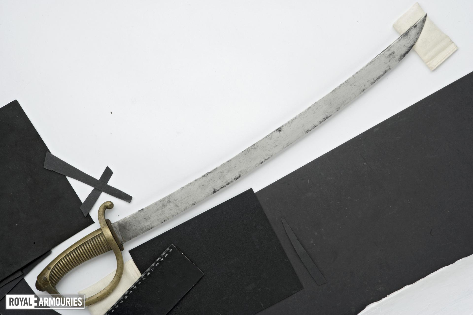 Sword and scabbard Infantary briquet and scabbard