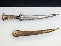 Thumbnail image of Dagger (khanjar) and scabbard