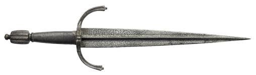 Thumbnail image of Dagger - Left Hand Dagger With etched, floral blade
