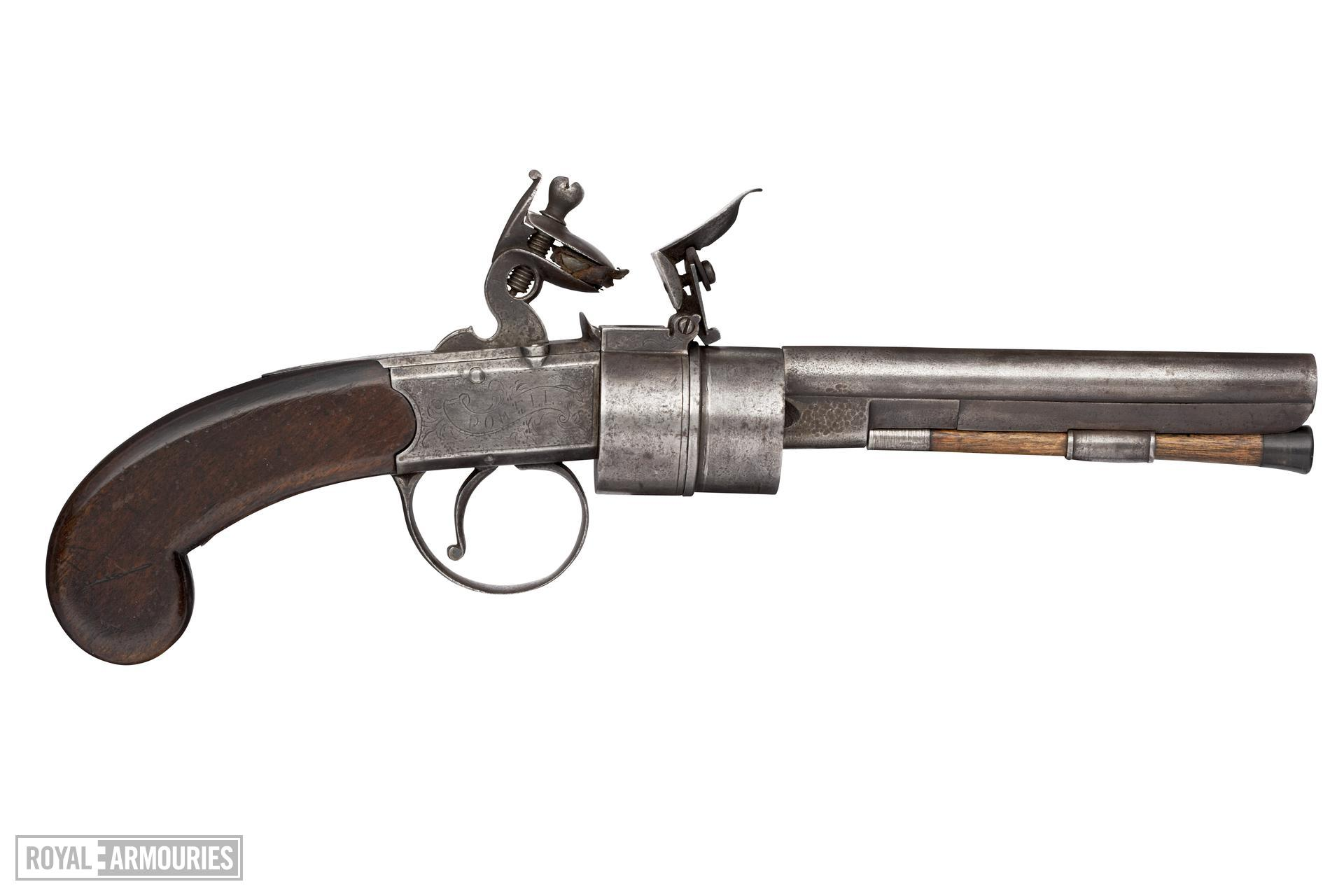 Flintlock revolver - Powell