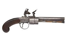 Thumbnail image of Flintlock revolver - Powell