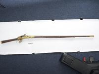 Thumbnail image of Matchlock musket (toradar) with gilded side plates.