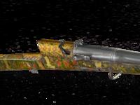 Thumbnail image of Matchlock musket (toradar) with elaborately painted stock.