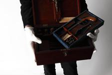 Thumbnail image of Cased set - Vampire killing kit Cased set, vampire killing kit, about 1970.