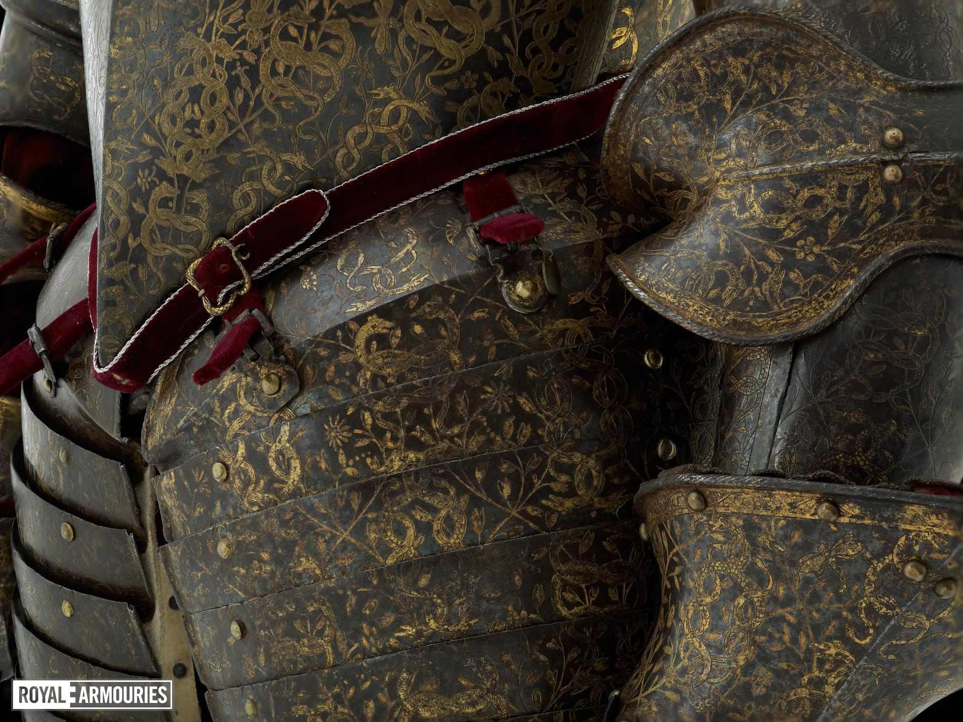Three-quarter field armour of Henry Wriothesley, 3rd Earl of Southampton