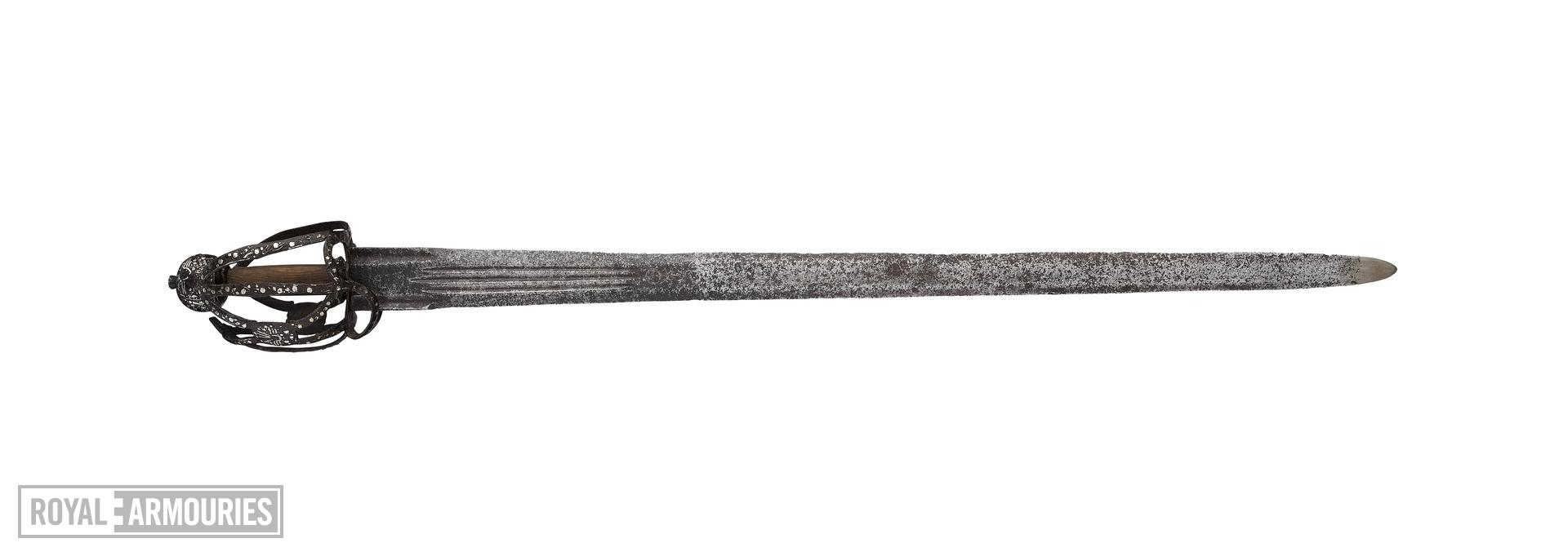Sword Broadsword with Andrea Ferara blade, probably of Solingen manufacture