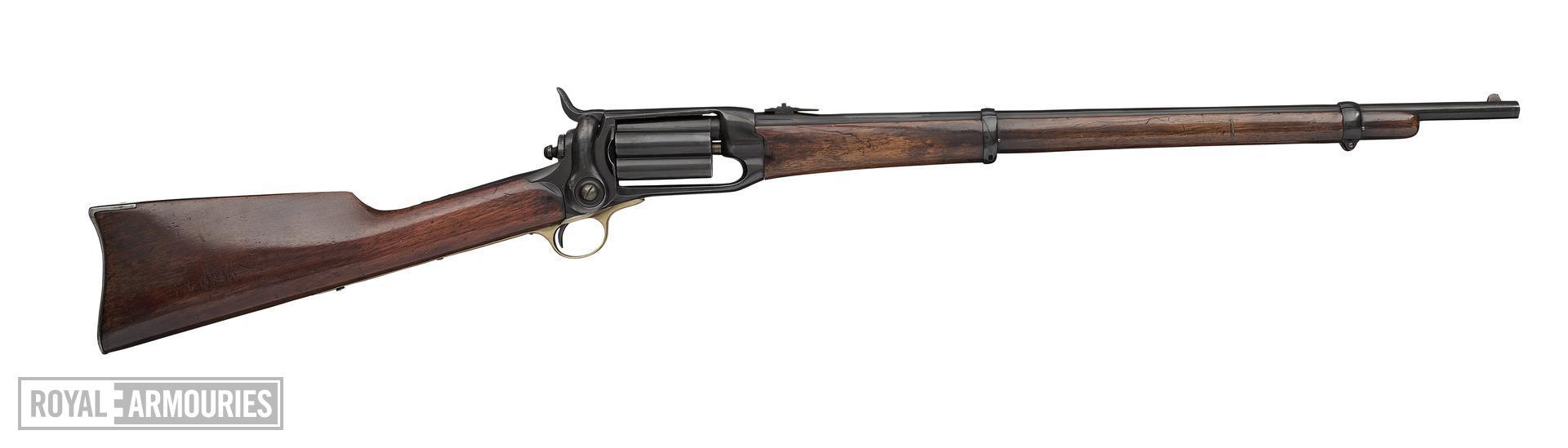 Centrefire five-shot revolver carbine