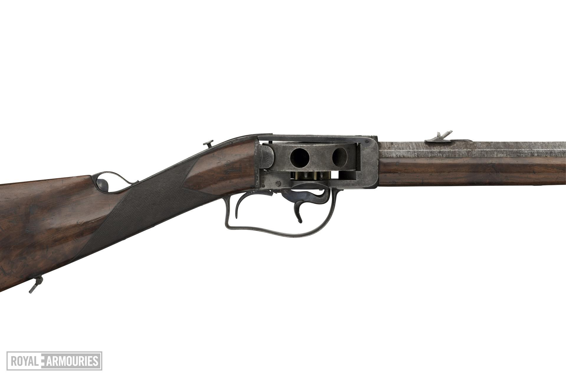 Percussion turret rifle - Wilkinson and Son turret rifle