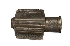 Thumbnail image of Mace Head cast hollow bronze body with six radial fins.