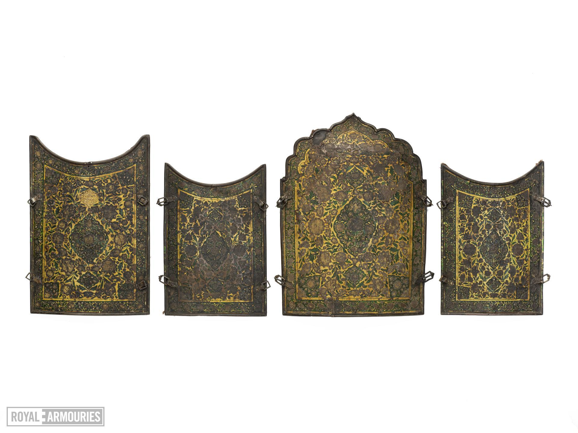 Cuirass (chahar a'ineh) of enamelled copper.