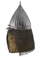 Thumbnail image of Helmet (chichak) modified for use in the Sudan
