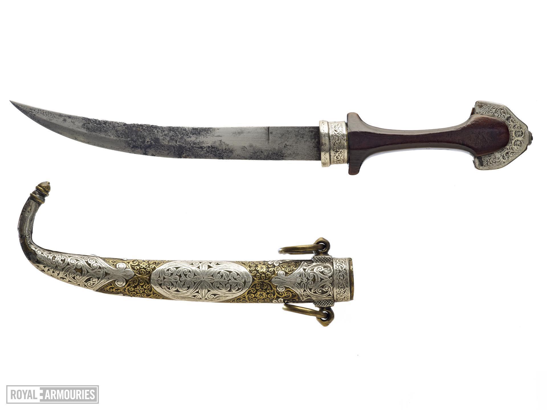 Dagger (koummya) and scabbard