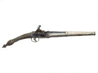 Thumbnail image of Flintlock pistol with rat-tail