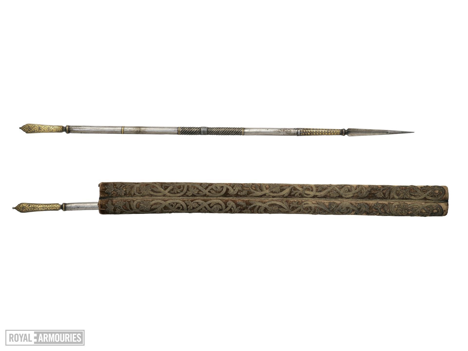 Pair of javelins and case (jarid)