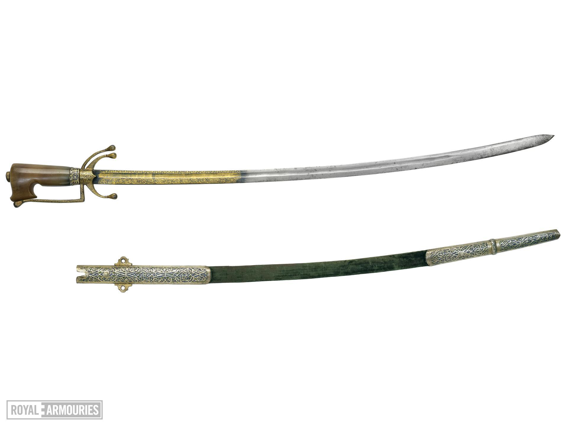 Sword (nimcha) and scabbard