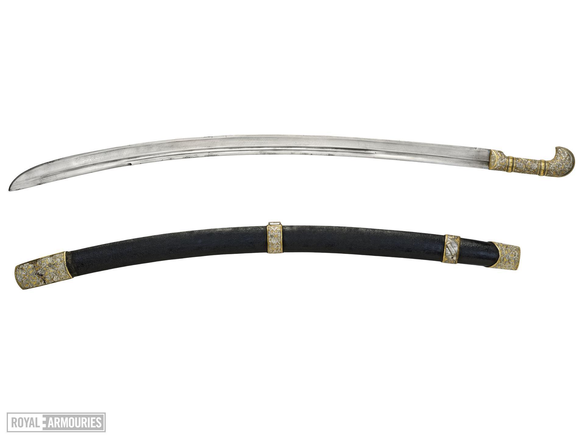 Sword (shashka) and scabbard