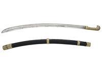 Thumbnail image of Sword (shashka) and scabbard Shashka and scabbard with silver mounts
