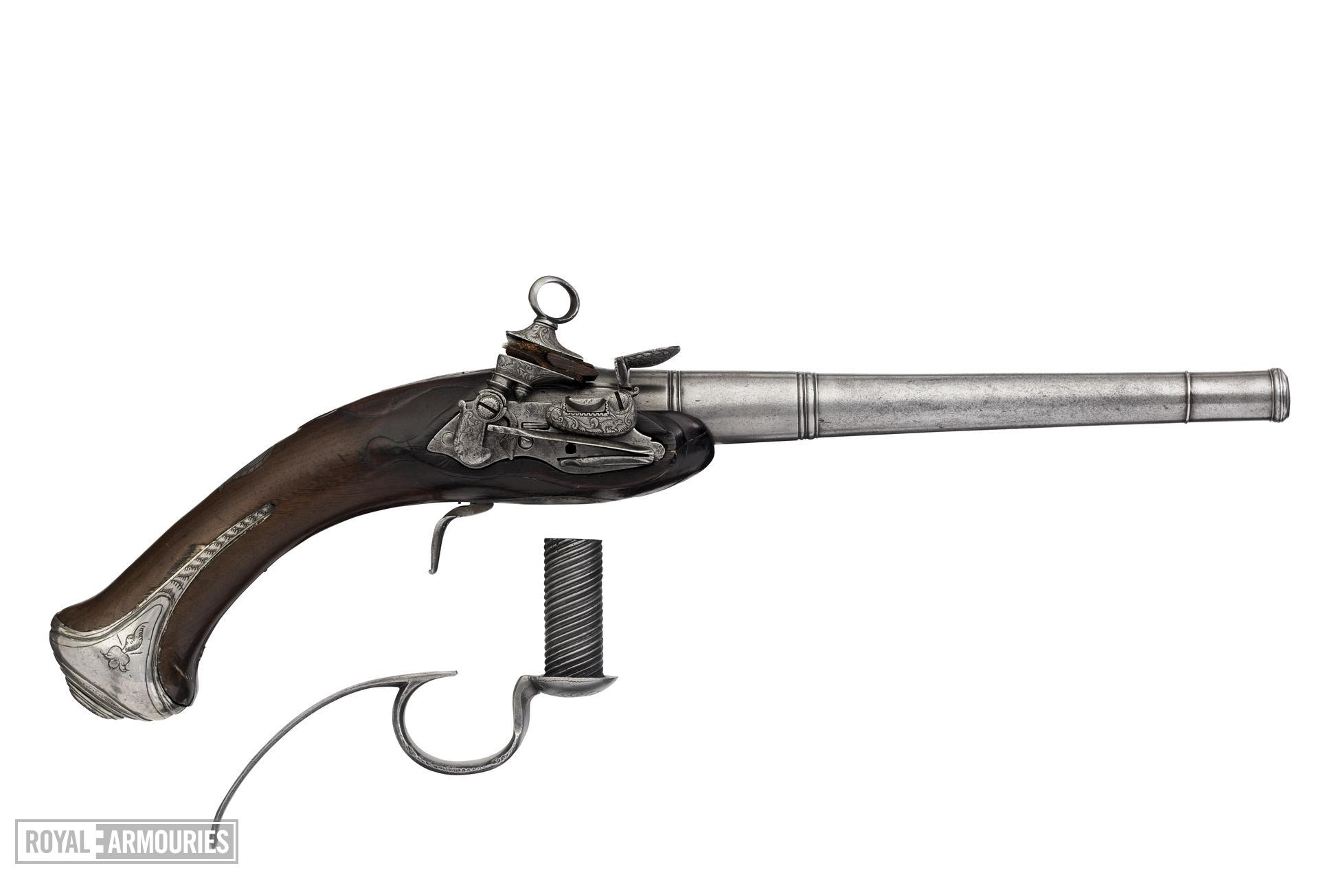 Flintlock breech-loading pistol Possibly by Odal LeMed One of a pair; with XII.4856