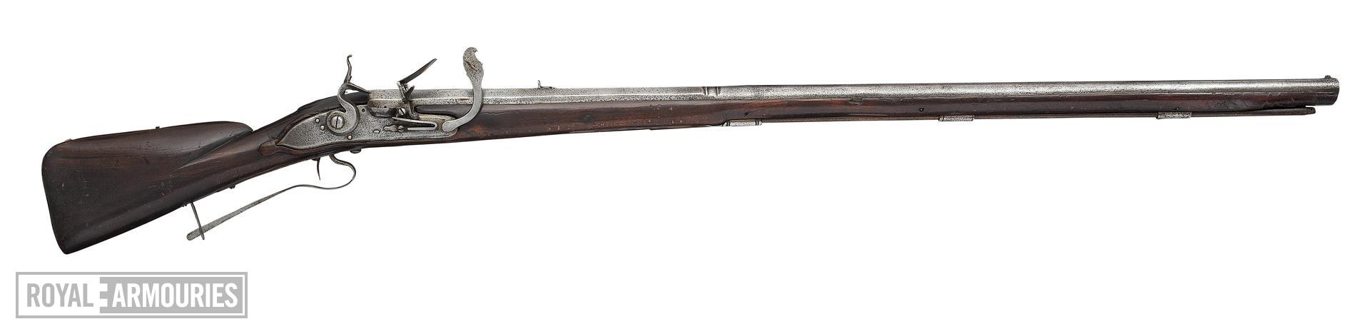 Flint and combined matchlock muzzle-loading musket