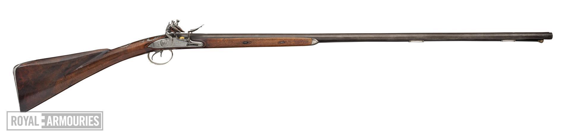 Flintlock double-barrelled shotgun - By Hadley