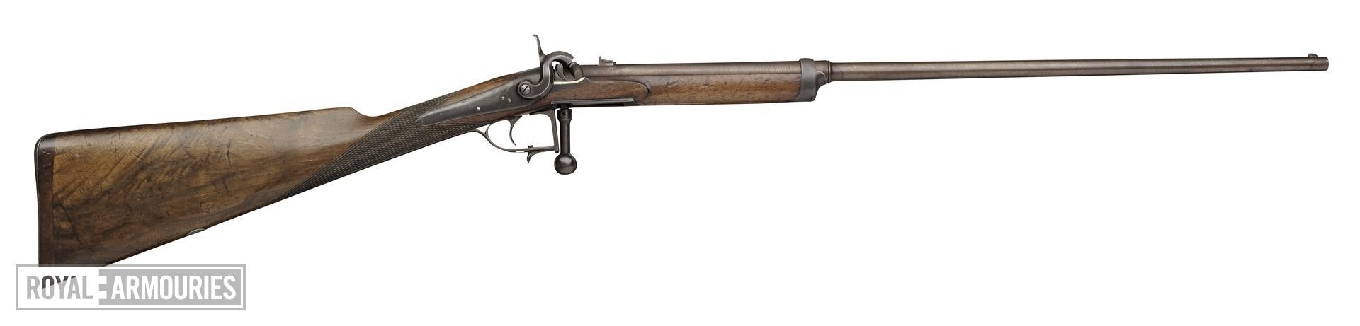 Percussion breech-loading rifle - By J. Blanch and Son By J. Blanch and Son Incorporating Prince's Patent