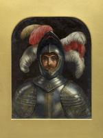 Thumbnail image of Painting Oil painting, self portrait with armour by Charles Compton (1828-1884)