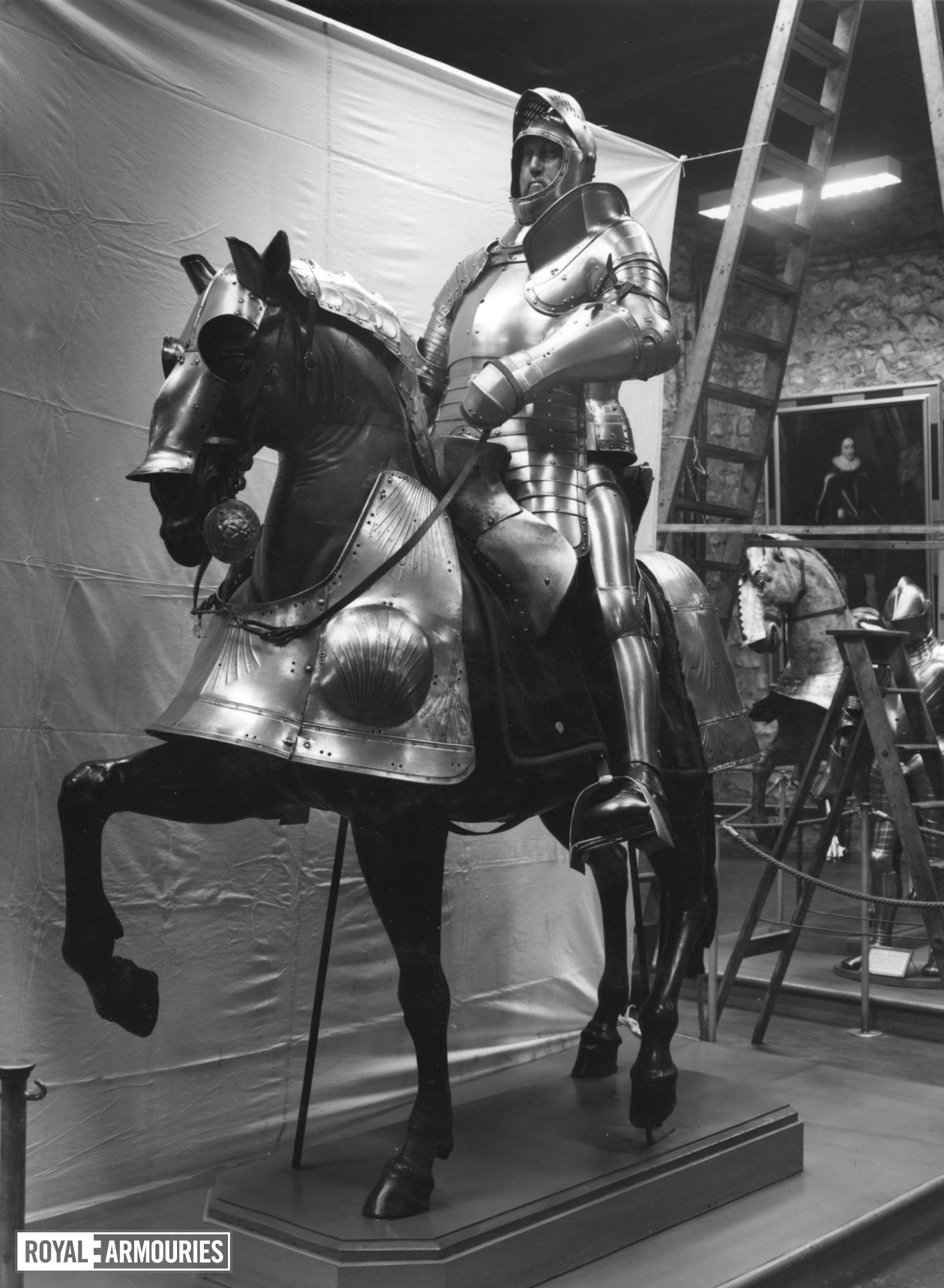 Saddle steel For a lost armour of Henry VIII