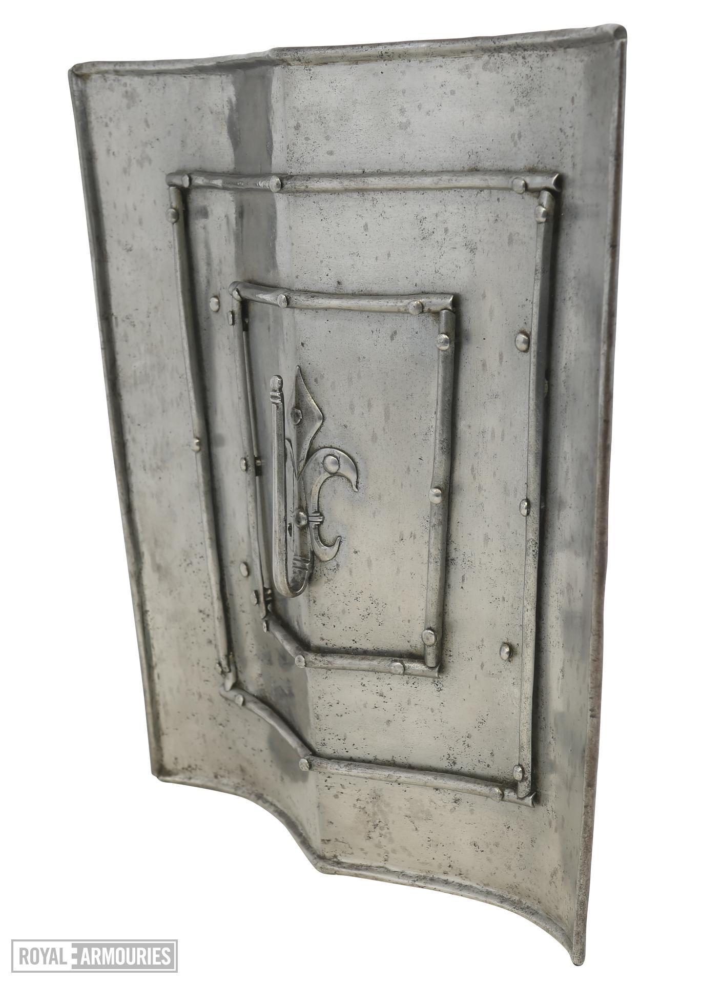 Buckler of rectangular outline. V.110