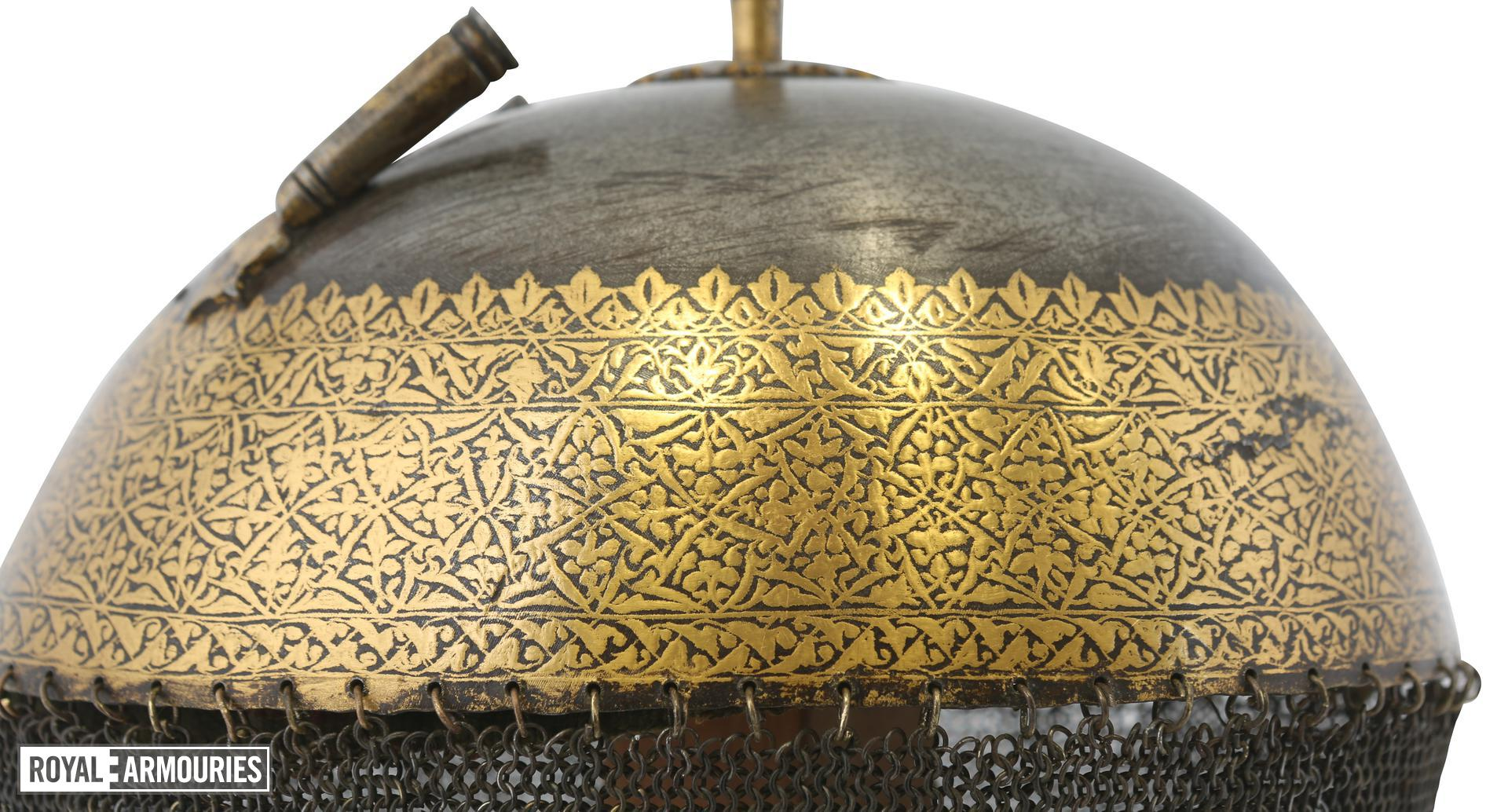 Helmet (top) traditionally of Ranjit Singh. XXVIA.36
