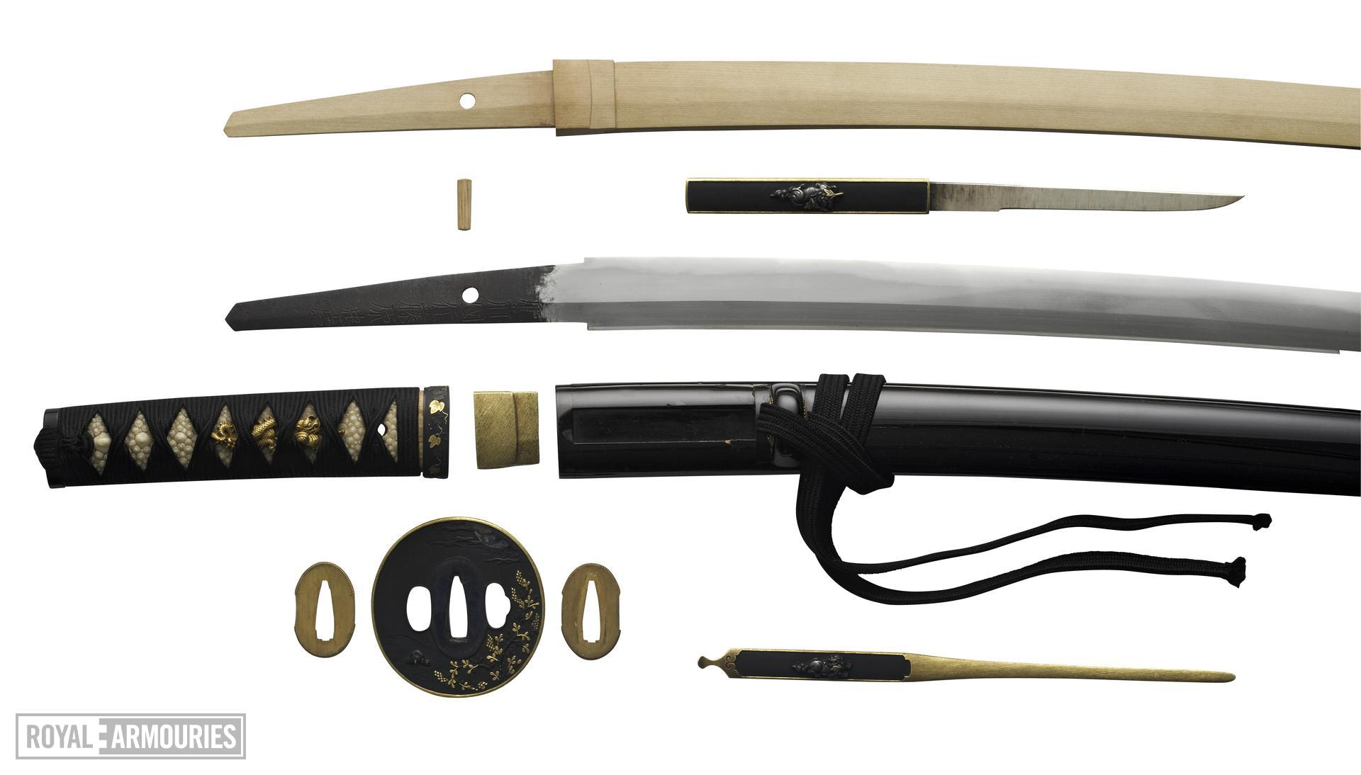 Sword (wakizashi) By Tadahiro, 2nd generation.