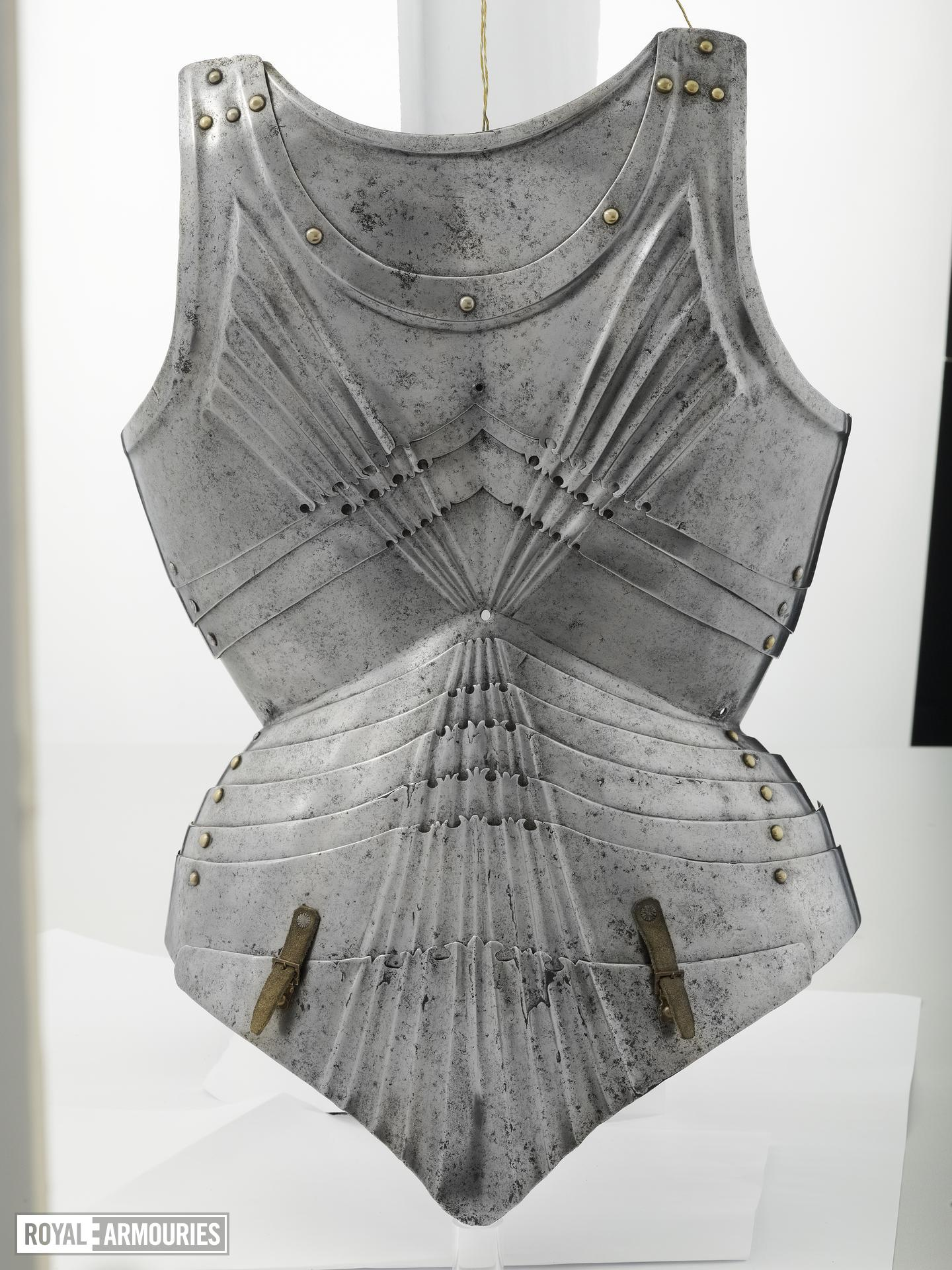 Backplate of Gothic form, German, about 1480-90