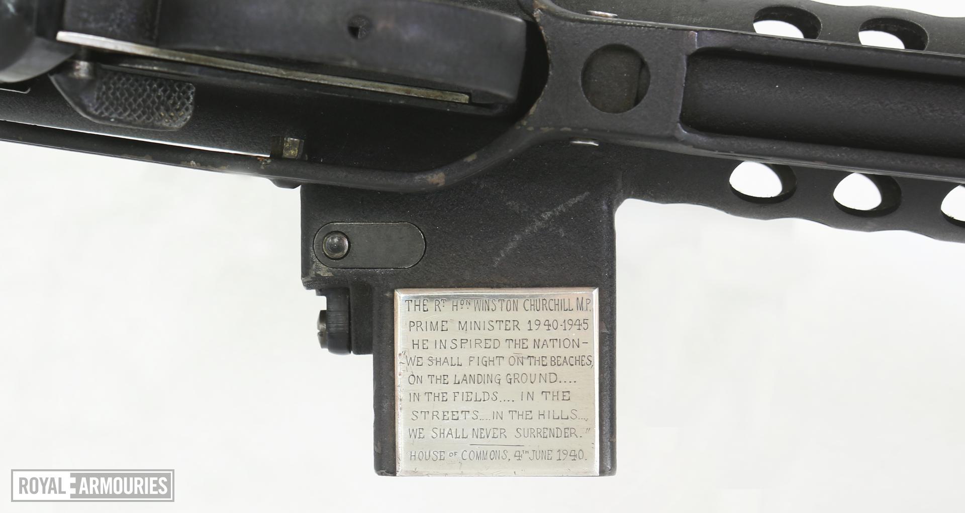 Centrefire automatic submachine gun - Patchett Mk.II presentation type