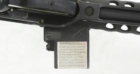 Thumbnail image of Centrefire automatic submachine gun. Patchett Mk.II Experimental. Troop trials pattern  designated 'Patchett, 9mm, M/C' with Churchill dedication. PR.7330