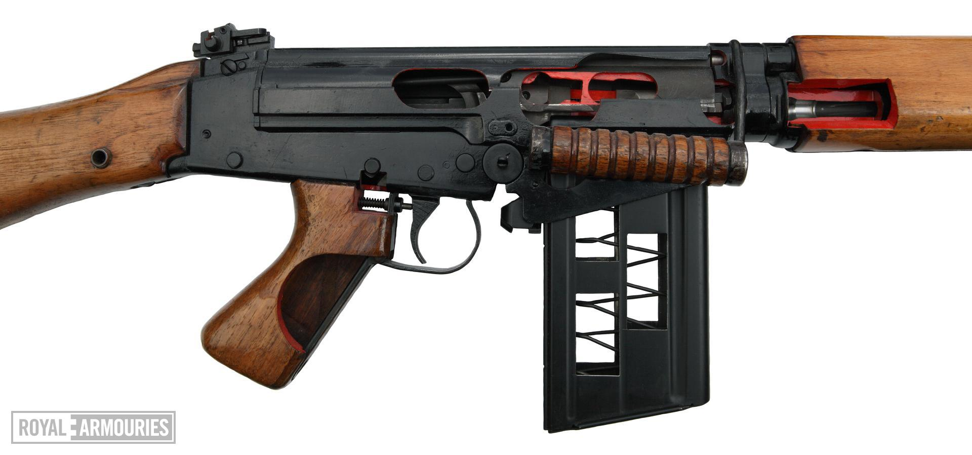 Centrefire self-loading instructional rifle - FN L23A1 Instructional model; a converted L1A1