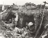 Thumbnail image of Photograph showing a British trench, about 1916.